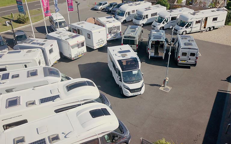 Extensive motorhome stock